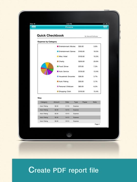 Quick Checkbook Pro for iPad screenshot-4