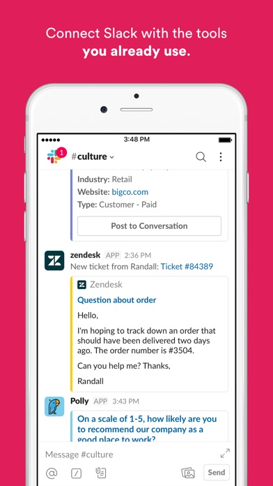 Slack Screenshot on iOS