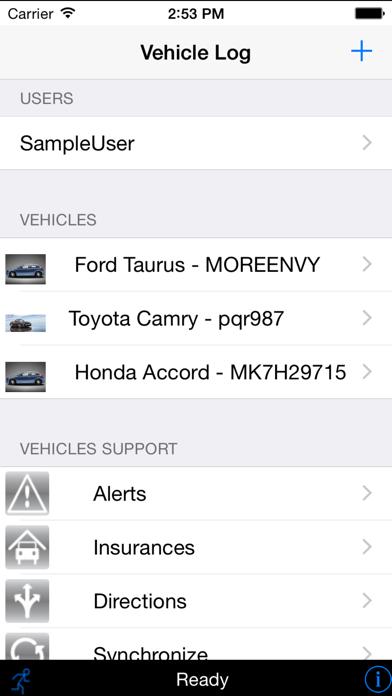 Vehicle Log screenshot one
