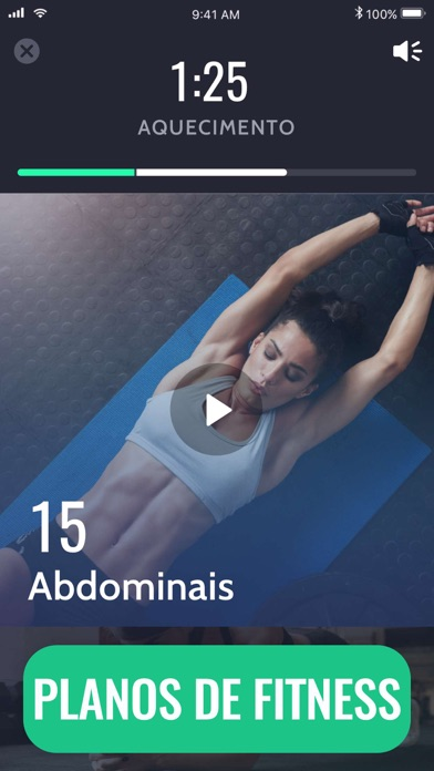 Screenshot for 30 Dias Plano Fitness in Portugal App Store