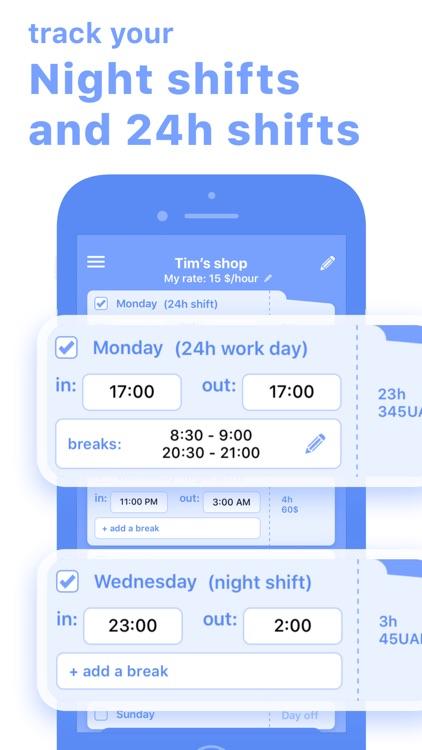 Work Hours & Pay Calculator screenshot-4