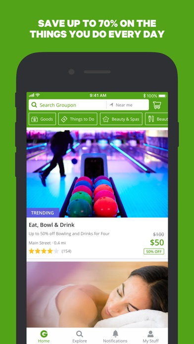 Screenshot for Groupon in United States App Store
