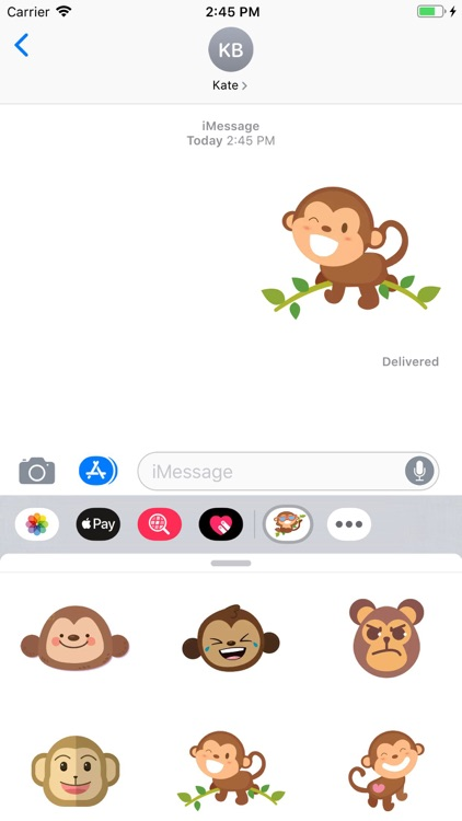 Cute Monkey Stickers Pack screenshot-4