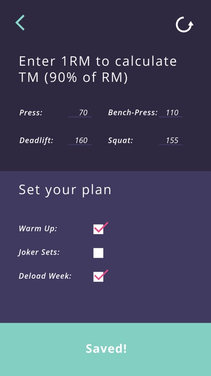 5-3-1 workout calculator screenshot-3
