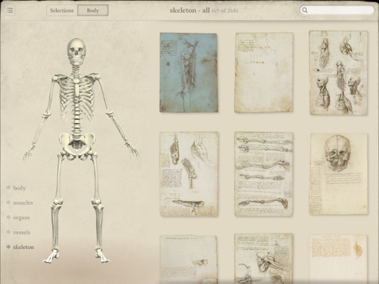 Screenshot #2 for Leonardo da Vinci: Anatomy
