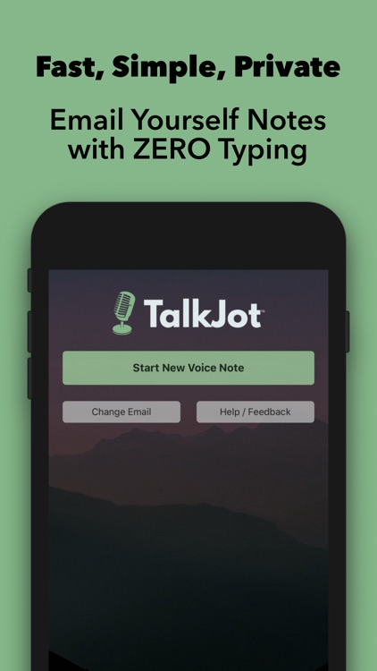TalkJot – Voice-to-Email Notes