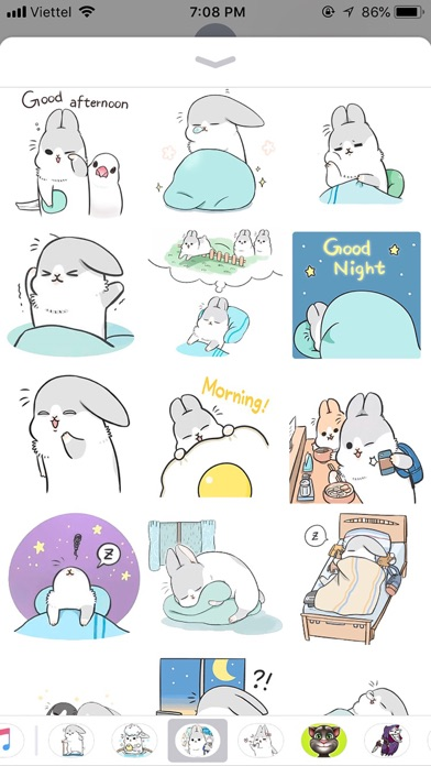 Rabbit Moji Pun Funny Stickers screenshot 1