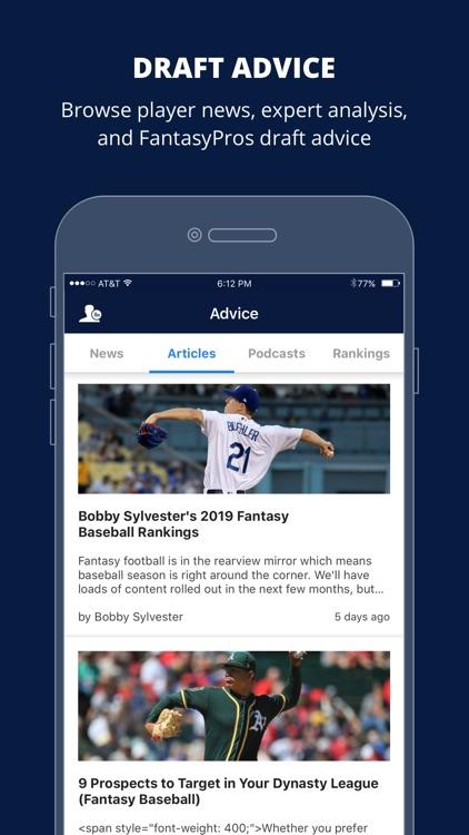 Fantasy Baseball Draft Wizard screenshot-5