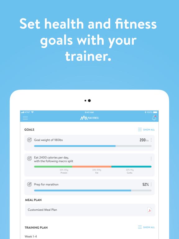 Ipad Screen Shot Peak Fitness App 7