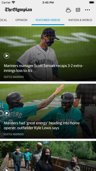 The Olympian News Screenshot