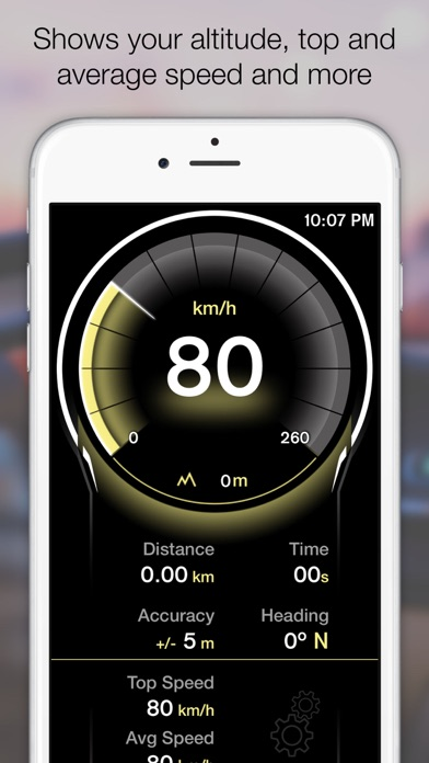 Screenshot for GPS Digital Speed Tracker Pro in Austria App Store