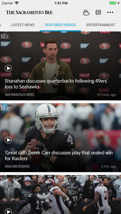 Sacramento Bee News Screenshot