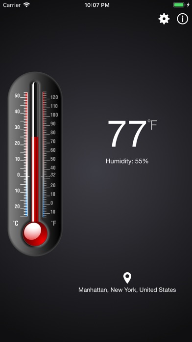 Screenshot for Thermometer++. in United States App Store
