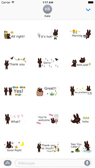Rabbit And Cat Animated Chat screenshot 1