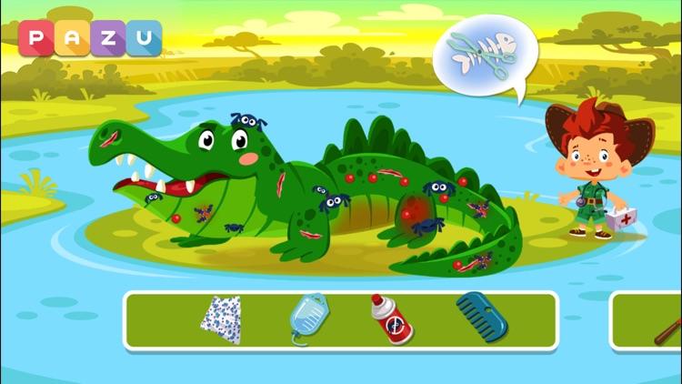 Safari Vet Care games for kids screenshot-0