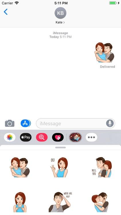 Romantic Couple Love Stickers screenshot-5