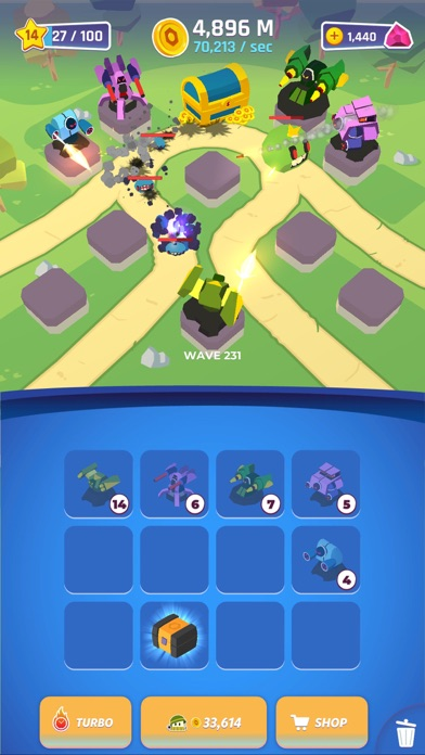 Merge Tower Bots screenshot 2