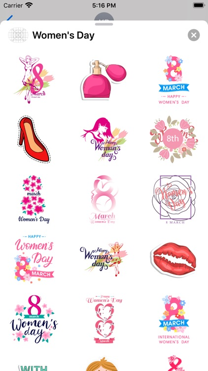 Go Girl - Women's Day Stickers