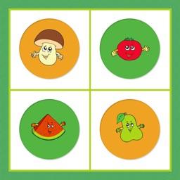 Fruits Vegetables Memory Game