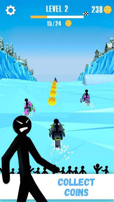 Snowmobile Stickman: Flip Race screenshot three
