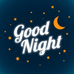 Good Night Typography Stickers