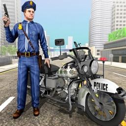 Bike Police Chase Gangster