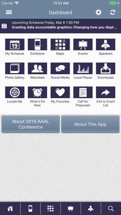AAAL Conferences screenshot two