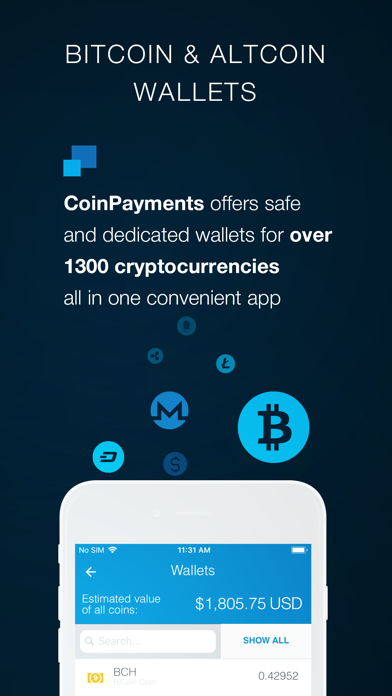 Screenshot of CoinPayments - Crypto Wallet2