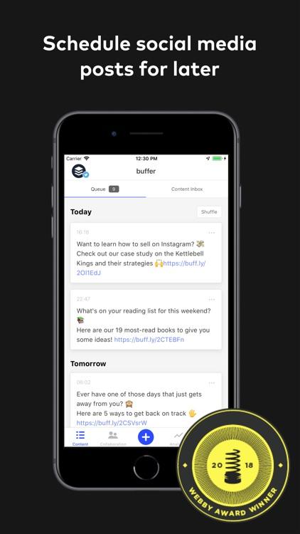 Buffer: Social Media Manager screenshot-0