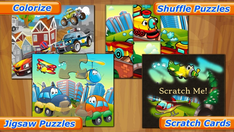 Cars Puzzle Games for Kids