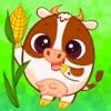 农场动物 - 3岁的孩子游戏 - 益智和颜色