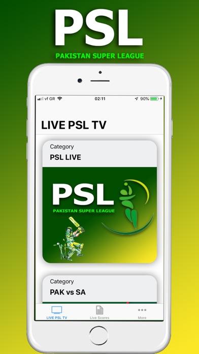 Screenshot for LIVE PSL TV in Pakistan App Store