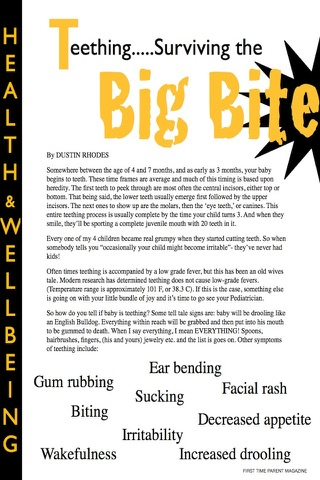Screenshot of First Time Parent Magazine