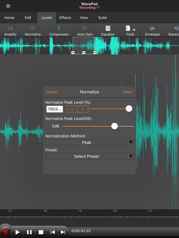 WavePad Master's Edition Screenshots
