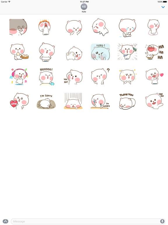 Animated Clumsy Bear Sticker screenshot 3