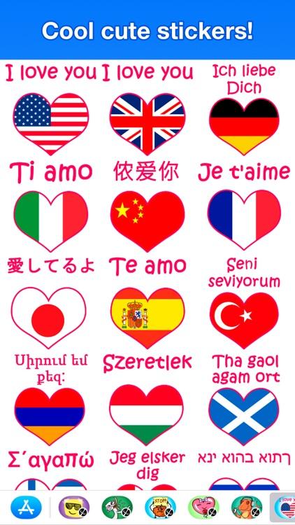 I love you - Cute stickers