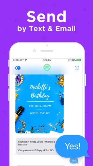 Hobnob invitations text rsvp on the app store stopboris Images
