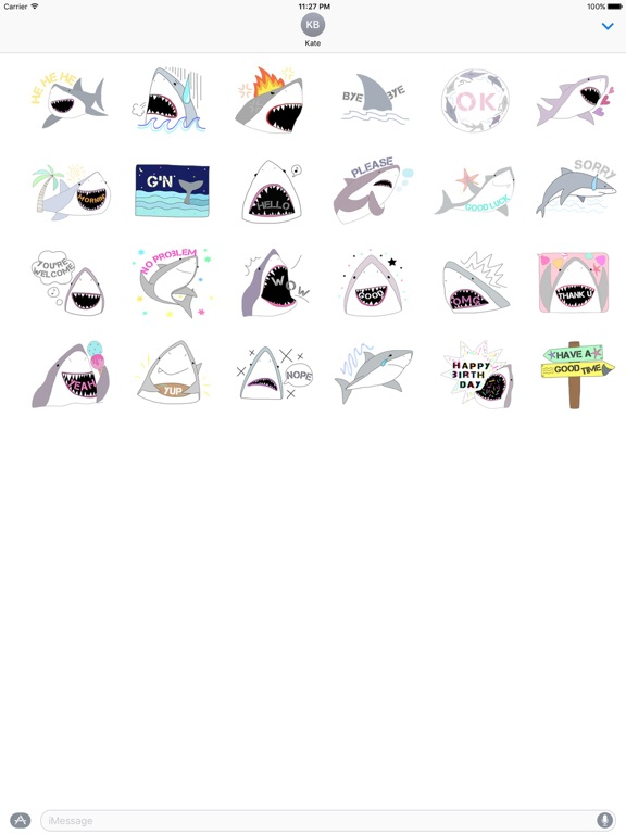 Funny Shark SharkMoji Sticker screenshot 3