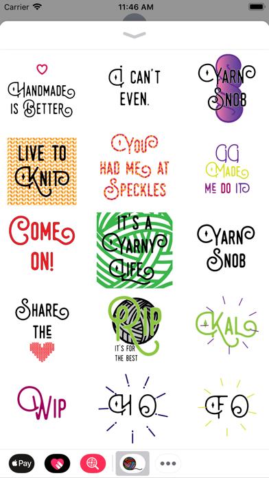 Knitting Stickers screenshot two