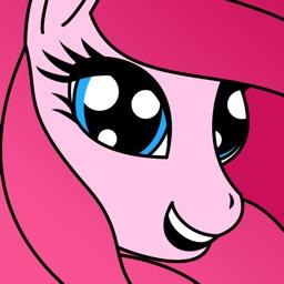 Pony Princess Coloring Book