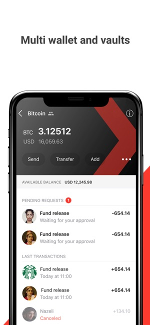 Xapo bitcoin wallet vault on the app store iphone screenshots ccuart Images