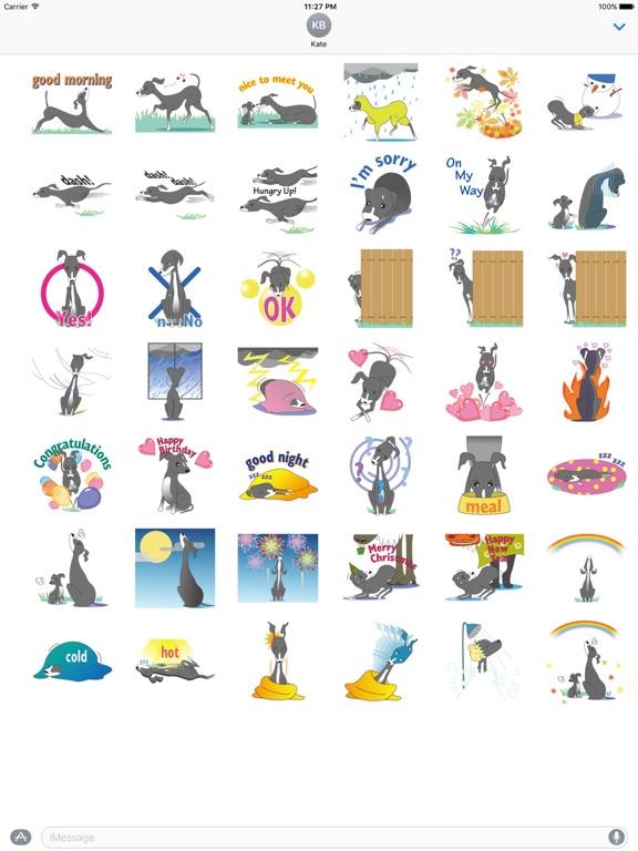 Italian Greyhound Dog Stickers screenshot 4