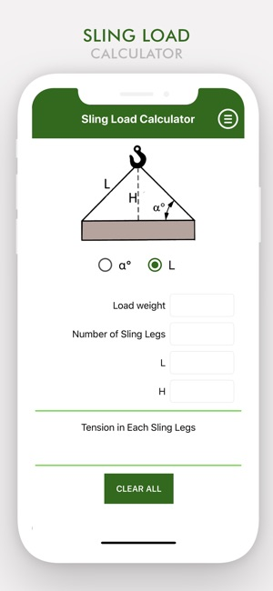 ‎Sling Load Calculator