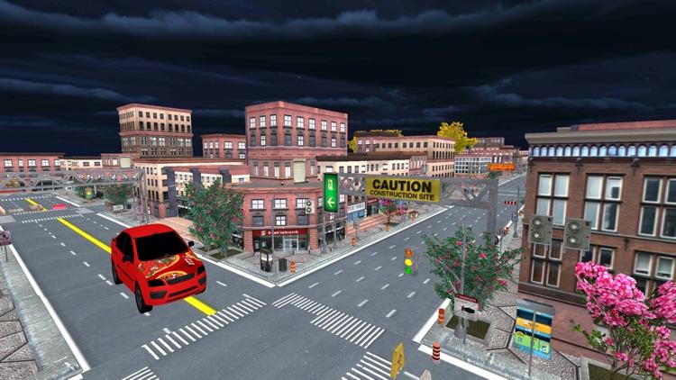 City Pizza Delivery Car Drive screenshot-4