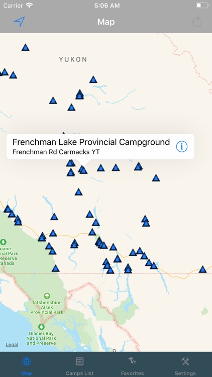 Yukon – Camping & RV spots screenshot-0