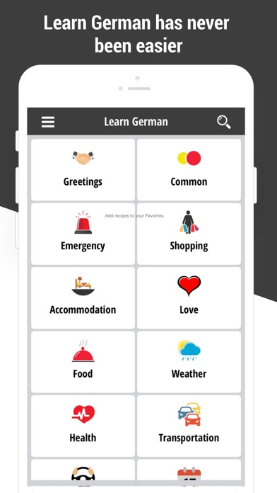 Learn German Language Offline screenshot one