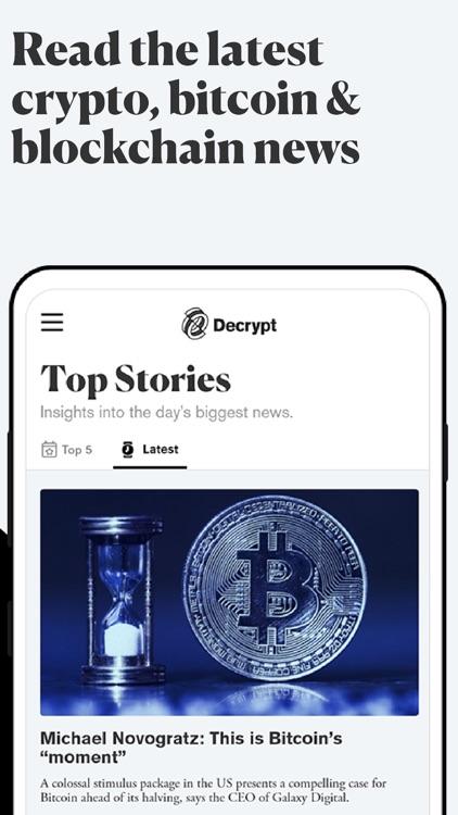 Decrypt: Bitcoin & crypto news