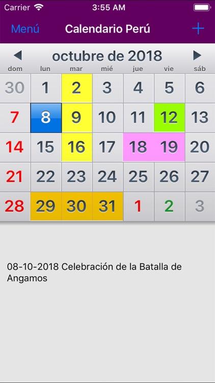 Calendario De Octubre 2019 Peru.Calendario 2019 Peru Noads By Rhappsody Technologies
