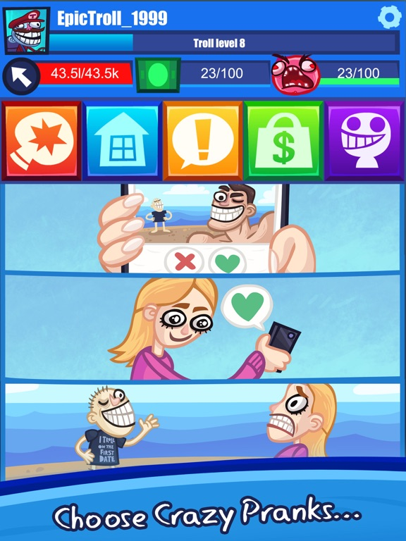 Troll Face Clicker Quest screenshot 8