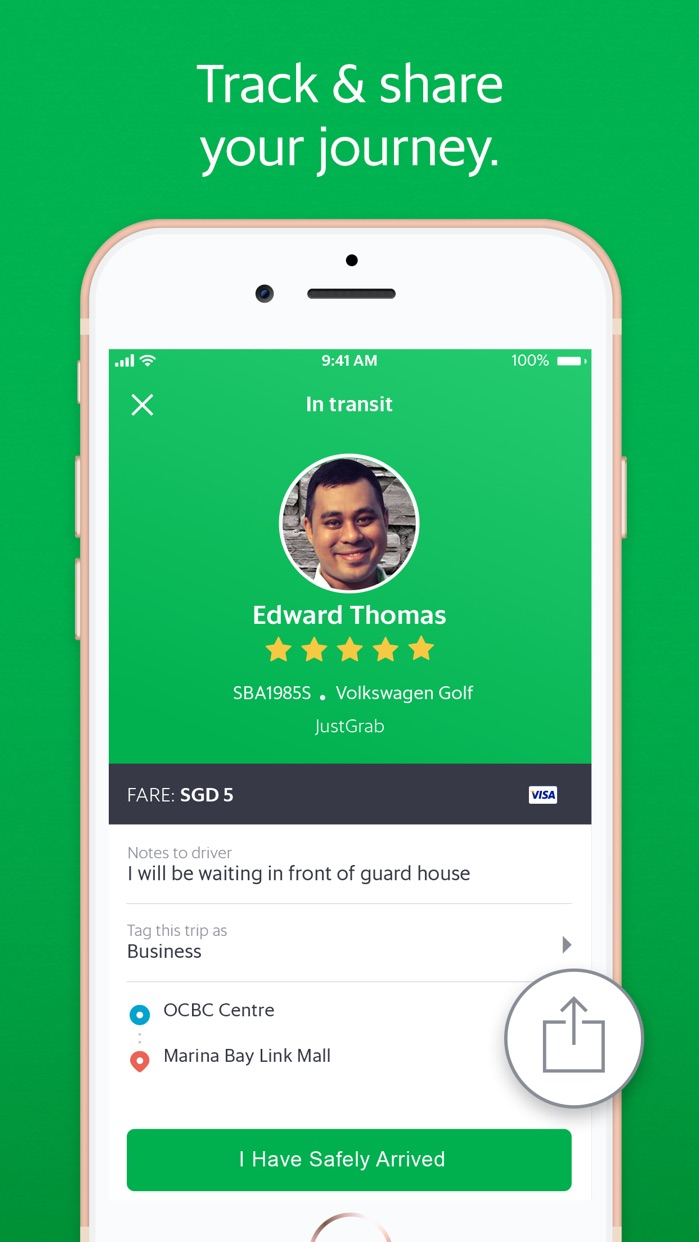 Grab - Ride Hailing App Screenshot